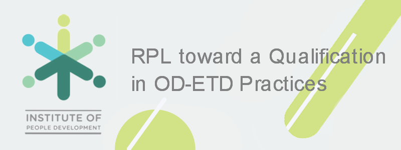 RPL toward a Qualification in OD-ETD Practices