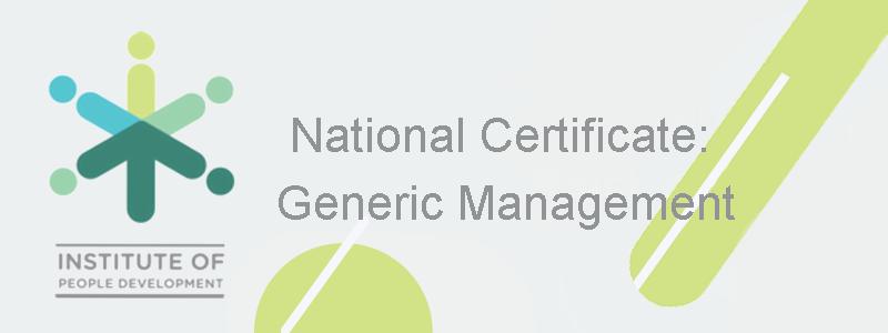 National Certificate: Generic Management