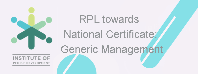 RPL towards National Certificate: Generic Management