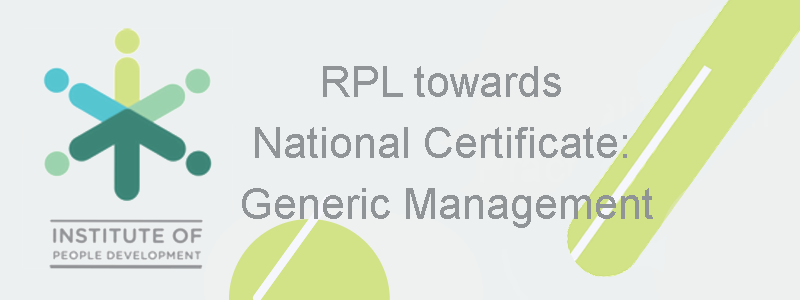 RPL towards National Certificate: Generic Management